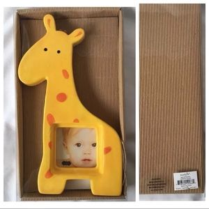 Mud Pie Giraffe Photo Frame Yellow